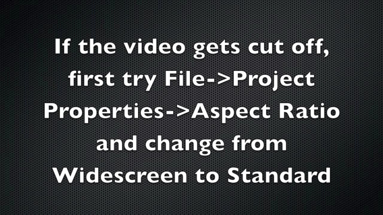 Done in 60 seconds: Formatting screen capture video from Quicktime