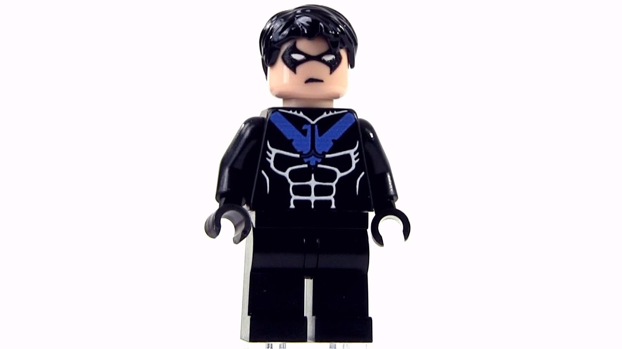 Custom lego nightwing young justice inspired minifigure youtube - Pictures of nightwing from young justice ...