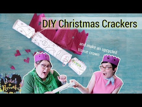 DIY Christmas Crackers - plus making an upcycled tissue crown