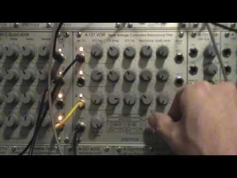 Doepfer A-127 Triple Resonance Filter Sound Example