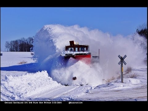 RAILREEL OSR Awesome Snow Plow Ontario 3 13 2014