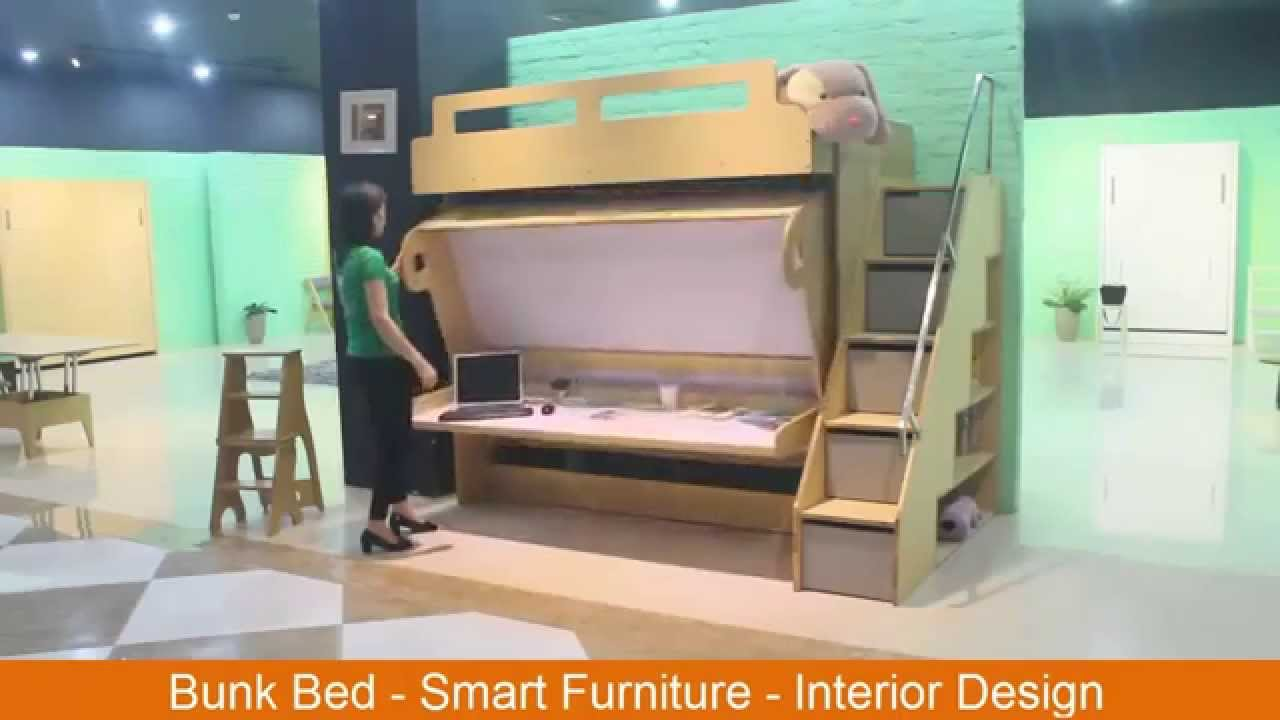 Bunk bed smart furniture interior design youtube for Room smart furniture houston