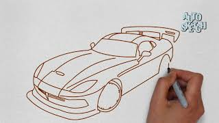 How to draw a dodge viper   cars drawing tutorial video
