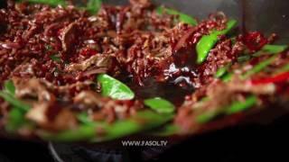 Стир фрай с бараниной и красным рисом