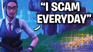 This scammer SCAMS for a living!! 😞🤧 (Scammer Get Scammed) Fortnite Save The World