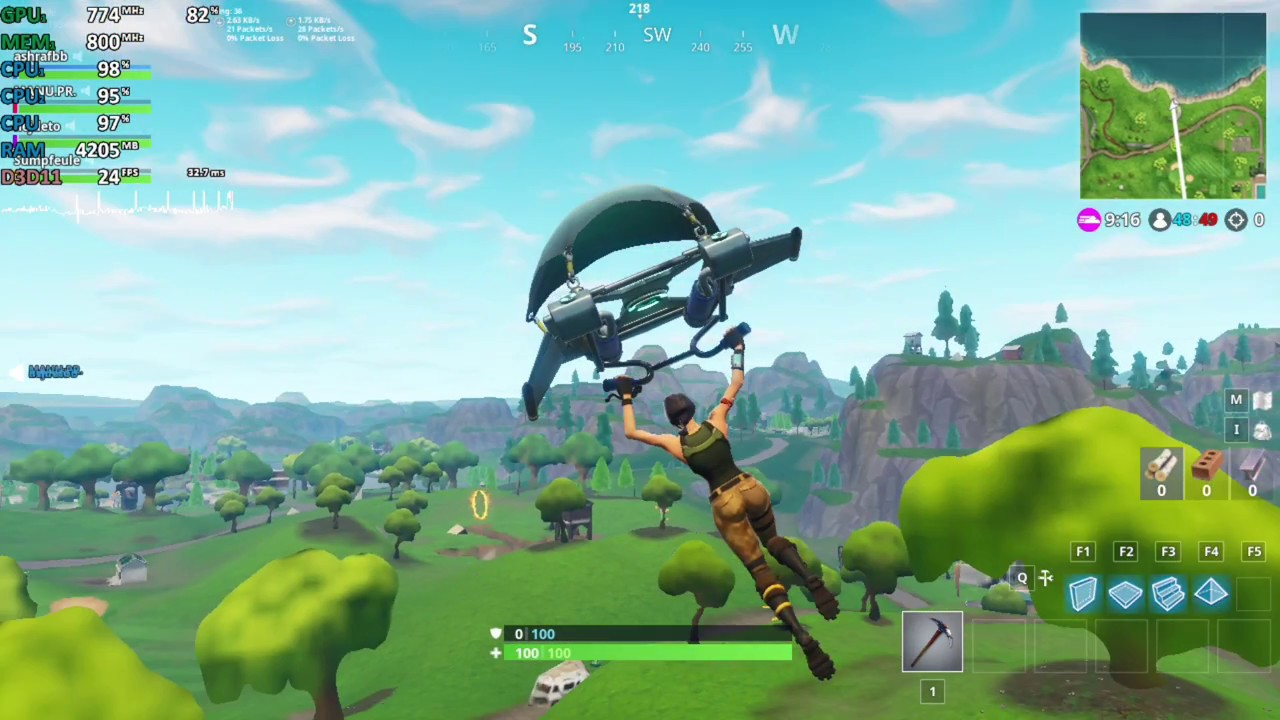 Amd A9 9420 A9 9425 Test Fortnite Battle Royale Gameplay Benchmark Test Youtube