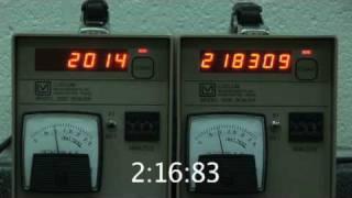 Radioactive Half-life Experiment - Part 2 - Collect the Data! - Data Run 3