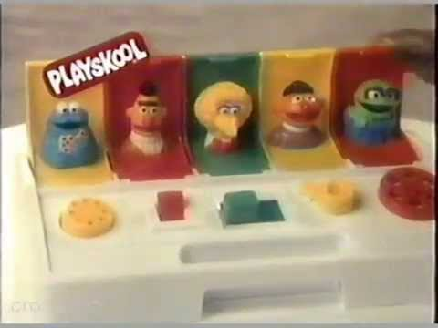1988 Playskool Sesame Street Busy Poppin Pals Ad Youtube