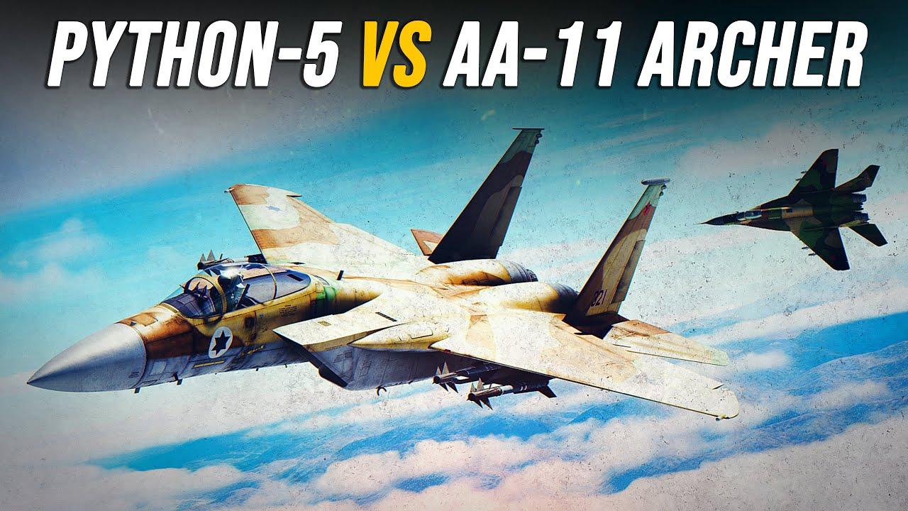 F-15 Eagle Vs Mig-29 Dogfight | Python-5 Vs Archer Trick Shots | Digital Combat Simulator | DCS |