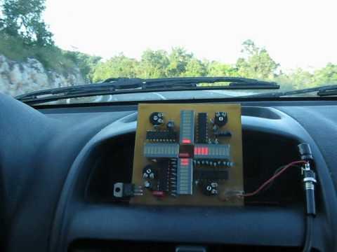 MEMS Accelerometer with LED bar display. Car Test 1