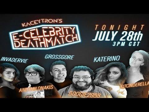 E-Celebrity Deathmatch ft. Andy Milonakis, Boogie2988, QTCinderella, Grossgore, Katerino, InvaderVie