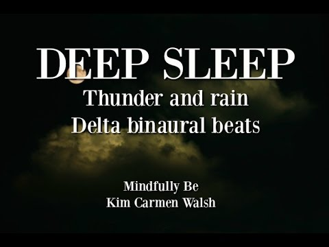 😴 Deep sleep binaural beats with thunder and rain - 3 hours HIGH QUALITY