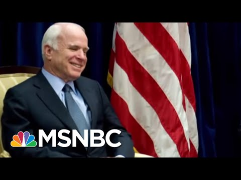 President Trump Relents, Orders White House Flag Lowered In Honor Of John Mccain | Deadline | MSNBC