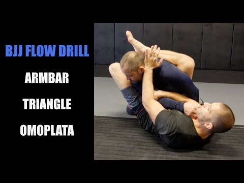 BJJ Flow Drill: Armbar Triangle Omoplata From Closed Guard