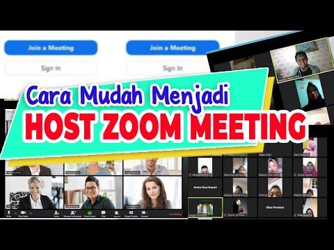 Cara Mudah Menjadi Host Zoom Meeting Youtube