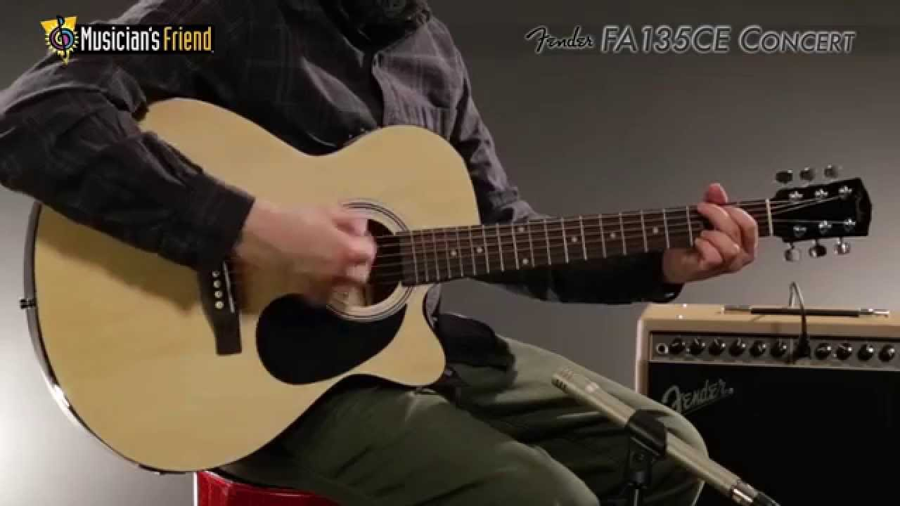 Guitars & Basses Acoustic Electric Guitars Fender Fa-235e Konzert Größe Akustische E-gitarre 3 Tone Sunburst Finish-demo