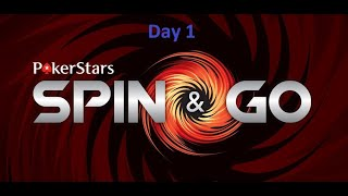 Pokerstars Bankroll Challenge from 50$ to 10000$ DAY 1 (0,25$ Spin i go)