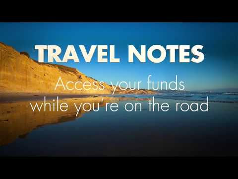 Online Banking - Travel Notes