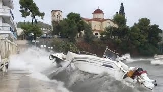 Rare Mediterranean cyclone swirls across Greece, brings flash floods