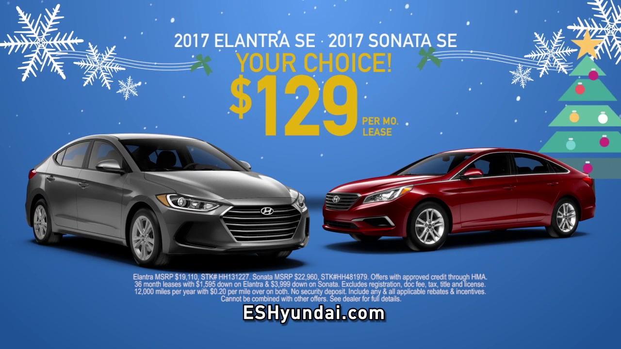 2017 Hyundai Elantra Or Sonata Lease 129 A Month