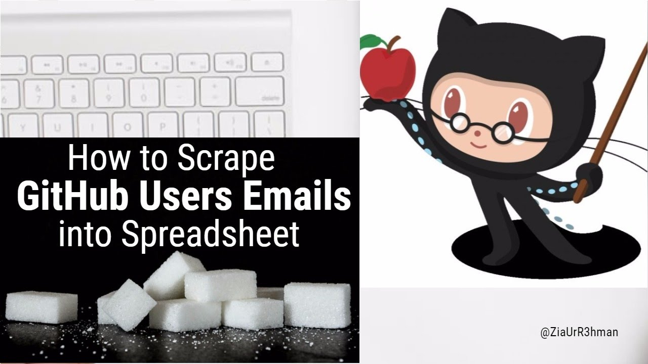 How to Scrape GitHub Users Emails | GitHub Marketing | Data Mining script