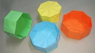 Hướng dẫn gấp hộp quà bằng giấy - Origami Box Easy - Nghệ thuật xếp giấy