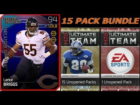 #MUT25 | 15 PACK BUNDLE OPENING | New Football Outsiders Lance Briggs, Charles Woodson & More