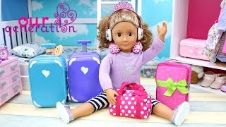 OUR GENERATION DOLL PACKING BAGS FOR BEACH VACATION