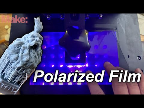 Quick Tip: How To Replace The Polarized Film On an MSLA Resin 3DPrinter