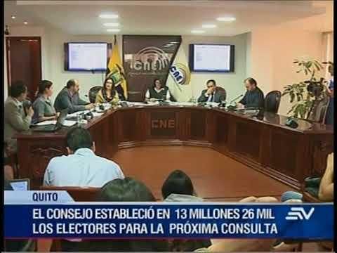 CONSEJO NACIONAL ELECTORAL PLANIFICA LA CONSULTA POPULAR