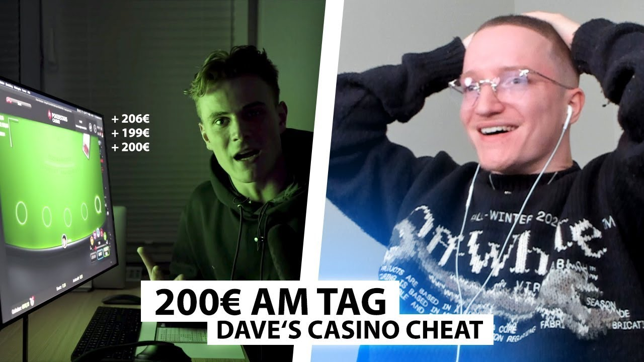 Justin reagiert auf Daves Casino Experiment (kein Fake) | Reaktion