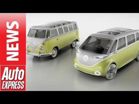 Volkswagen's I.D. Buzz concept is electric self-driving Microbus!