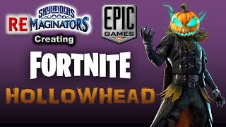 Fortnite *NEW* HOLLOWHEAD Skin - created in Skylanders Imaginators! | Brylander Creates