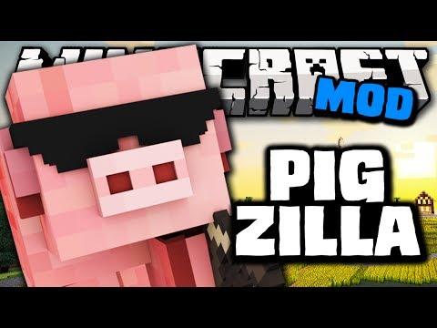 Minecraft: METEOROS DE PORCOS (PIGZILLA O PORCO GIGANTE!) - It Fell From The Sky Mod