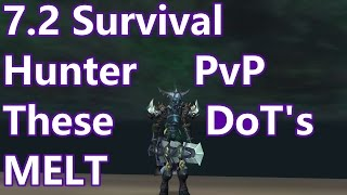 WoW - 7.2 Survival Hunter PvP - These DoT's MELT - Battleground w/Commentary