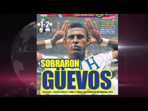 Así titularon los periódicos de Costa Rica y Honduras tras la victoria de sus selecciones