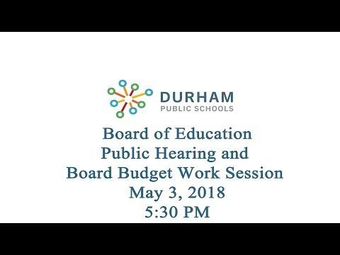 Durham Public Schools Boe Public Hearing And Board Work Session Fy