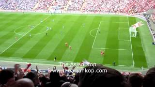 *FAN FOOTAGE* Andy Carroll Goal Against Everton (FA CUP SEMI FINAL)
