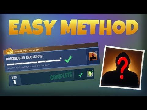 HOW TO COMPLETE ALL BLOCKBUSTER CHALLENGES * EASY TUTORIAL* Season 4 (Fortnite Battle Royale)