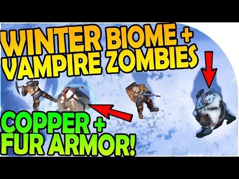 NEW WINTER BIOME, VAMPIRE WINTER ZOMBIES, COPPER, FUR ARMOR-