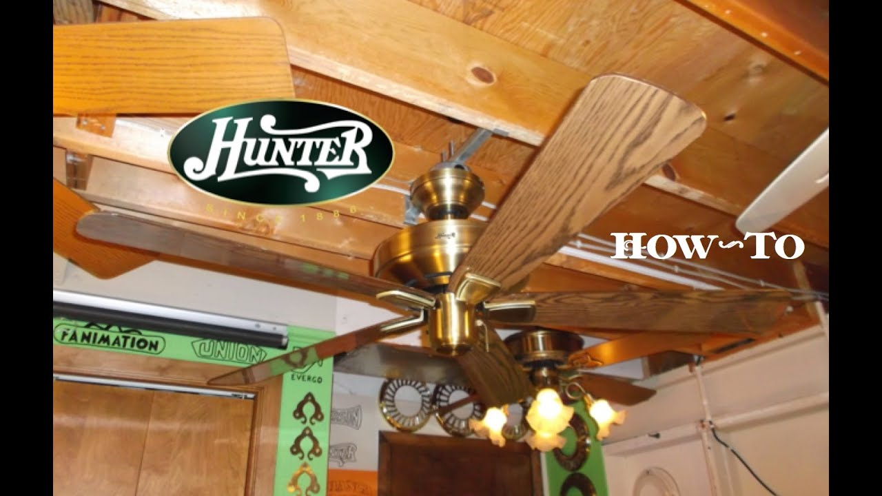 How to install a ceiling fan hunter infiniti youtube how to install a ceiling fan hunter infiniti mozeypictures Gallery