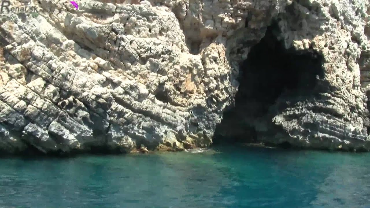 Holiday Greece Corfu Dassia 2010 trip boat glass bottom Paleokastritsa  paradise beach part 7