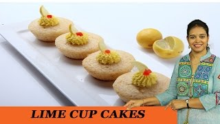 Lime Cup Cakes - Mrs Vahchef