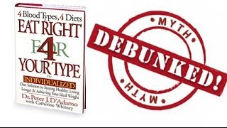 Eat Right 4 Your Blood Type - Debunked