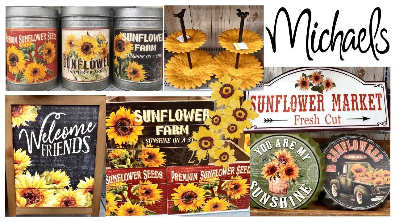 New Michaels Sunflower Farmhouse Decor Shop With Me Fall Preview 2020 Youtube