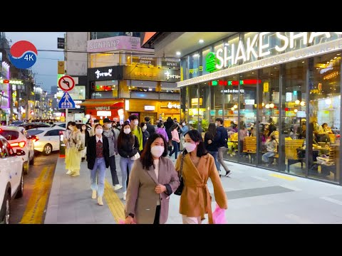 [4K] Korea Walk - Saturday Evening Downtown Street Walking, Night Walk Daegu, Korea.