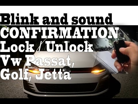 Blink And Sound Confirmation When Lock Unlock Vw Passat Golf Jetta Vcds Programming Youtube