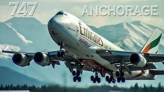 EMIRATES & ETIHAD Boeing 747s in Alaska