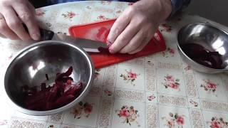 Салат из маринованной свеклы