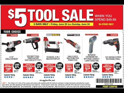 Harbor Freight $5 Tool Sale (3 Days Only!)